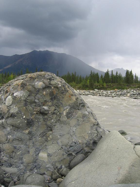 McCarthy river rainstorm approaches, Alaska