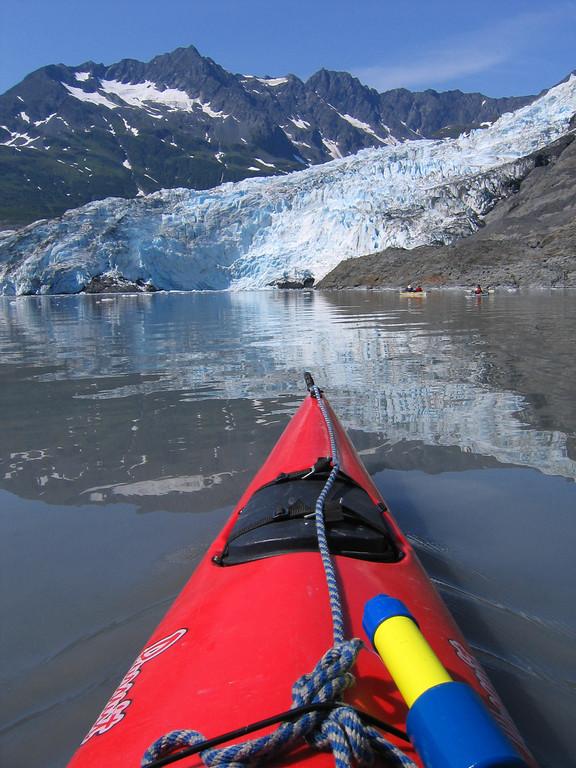 Kayaking Shoup Glacier bay in Valdez Alaska