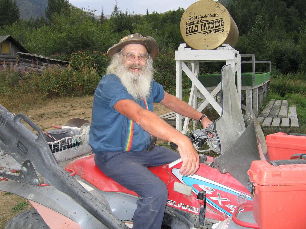 Gold Rush Peck on ATV in Hope, Alaska
