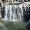 A closeup of Shoshone Falls.  The rainbow was a nice bonus!