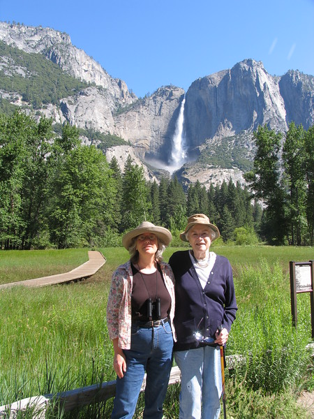 With my mom, Betsy Roth.  Her first visit to Yosemite Park, and her last trip.