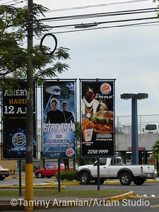 Star Trek promotional banners at Burger King