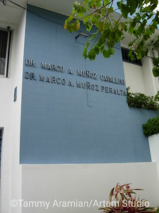 environmental signage for Drs. Muñoz