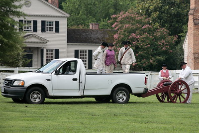 A scene from Colonial Williamsburg.