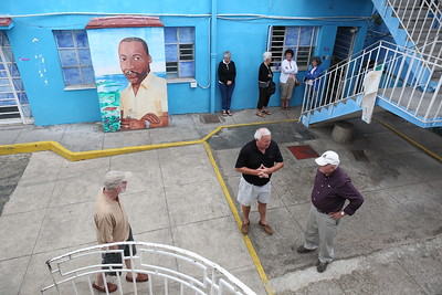 The Dr, Martin Luther King Center  Courtyard is a place to gather
