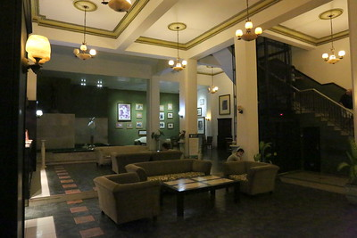 Lobby of Ambos Mundow Hotel in Old Havana