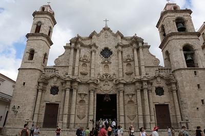 The Catedral de San Cristobal on the square Plaza de La Catedral in  La Habana Vieja, Havana, Cuba, Caribbea