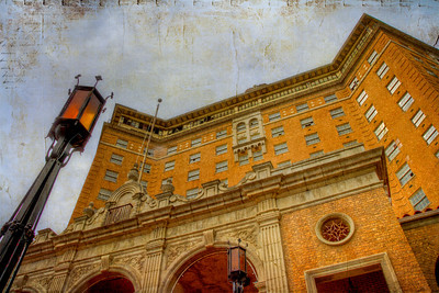Photo of Old Baker Hotel, Mineral Wells, Texas 2011 - to be used for art and cover of Brian Burns Album: Ghosts of the Baker Hotel