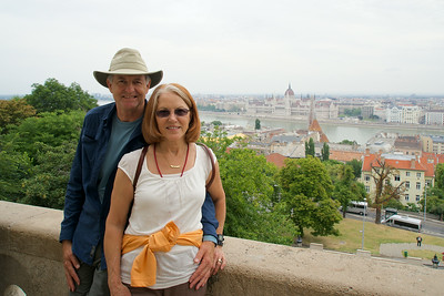 Overlooking the Hungarian Parliament building in Budapest