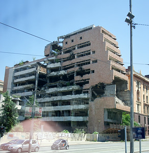 Serbian Defense Ministry, hit by NATO forces during the recent war