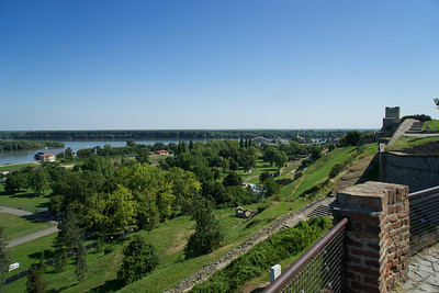 The fortress oversees the intersection of the Danube and Sava RIvers