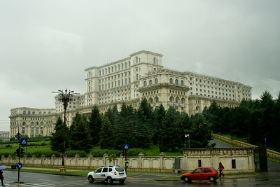 Ceausescu's grand dream, which he never occupied.  This is the second largest office building in the world (after the Pentagon) and its construction helped drain the country's economy