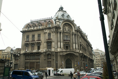 Typical (beautiful!) building in Bucharest