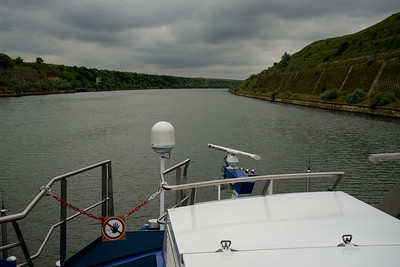 Sailing north on the Danube-Black Sea canal