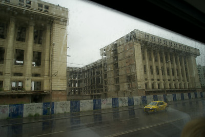 One of Causescu's failed communikst dreams: the never-completed communications buildings in Bucharest