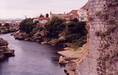Mostar, the missing bridge - 1998