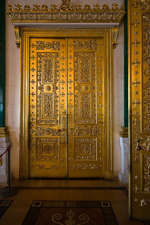Door detail in the Malachite Room