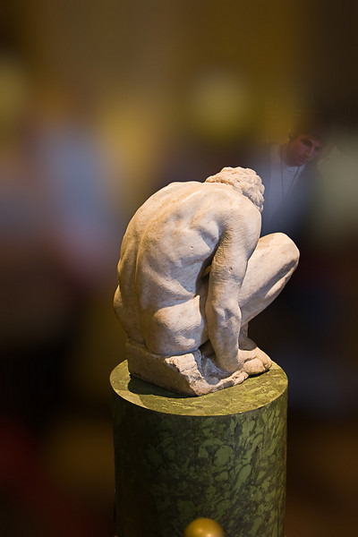 Crouching Boy by Michelangelo; his only work in the Hermitage