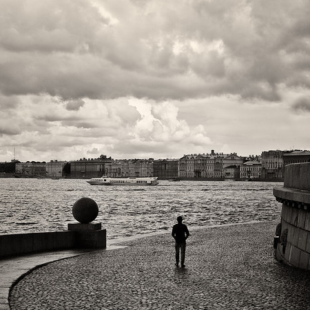 St. Petersburg, across the Neva River from the Hermitage