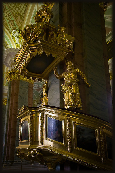 Pulpit in the Saints Peter & Paul Cathedral