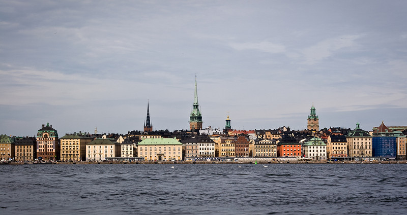 Old Town Skeppsbron as viewed from the water