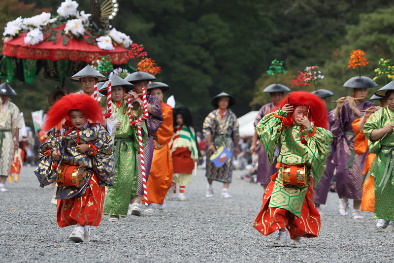 Participants in the 2010 Jidai Matsuri event in Kyoto, Japan.<br /> The parade includes historical outfits and characters from about 1200 years of Kyoto history.