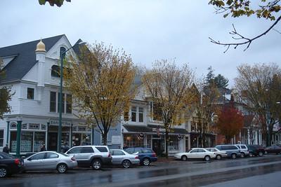 street scene in Lenox, Mass