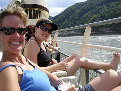 Germany: Our cycle and sail up the Rhine was a highlight. Cool castles, swims and a beer on the way home. Can it get any better?