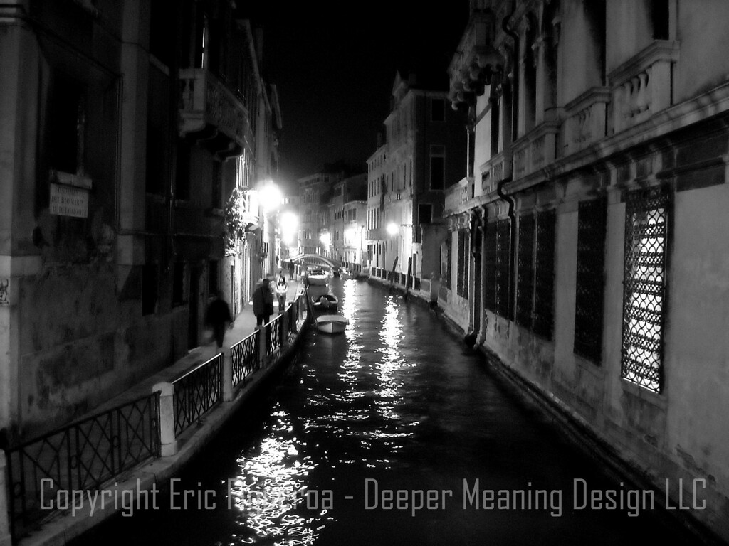 Venice at Night   Venice Italy  - By Veronica Figueroa