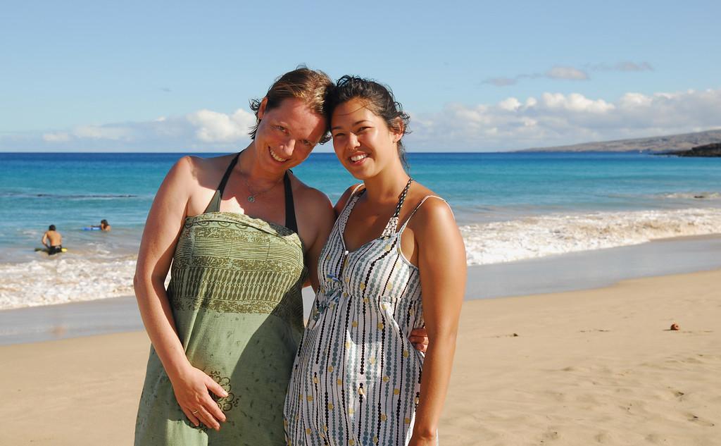 Regan and Sarah at Hapuna!