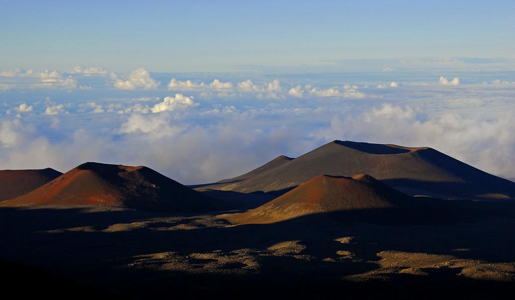 3 Cinder cones at Mauna Kea summit