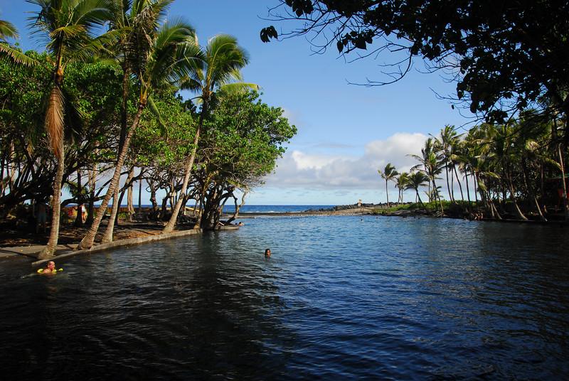 Ahalanui warm springs ocean pools