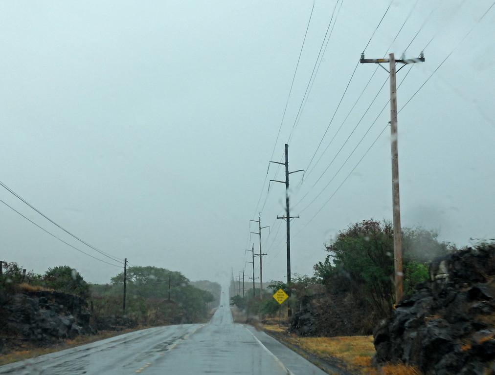 We hit a tropical depression, rain!