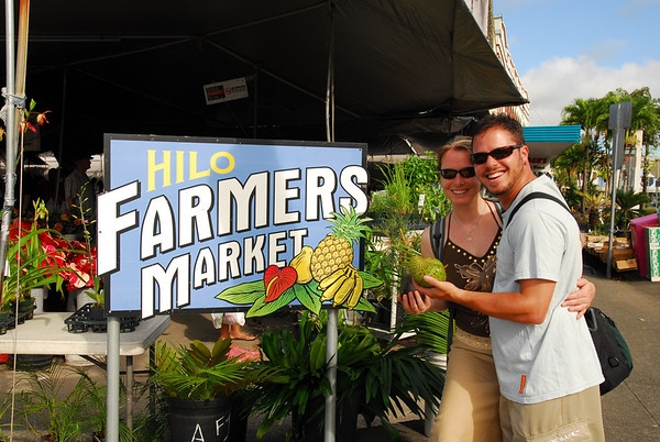 At the amazing Hilo Farmers Market