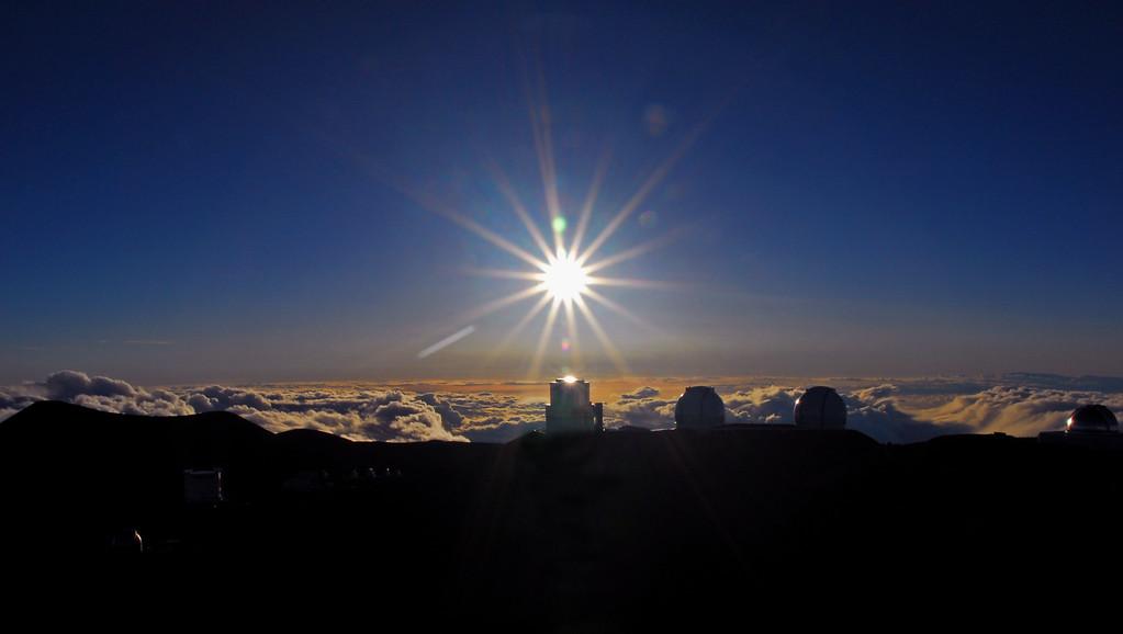 Perfect sun at Mauna Kea!
