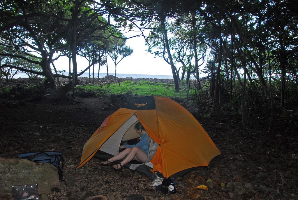 Our tent camp at Waimanu
