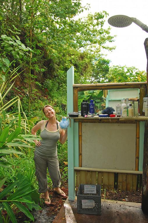 Sarahs favorite outdoor jungle shower in Pahoa