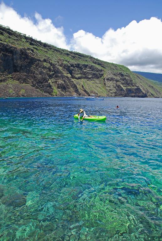 Perfect clear waters of Kealakekua Bay.