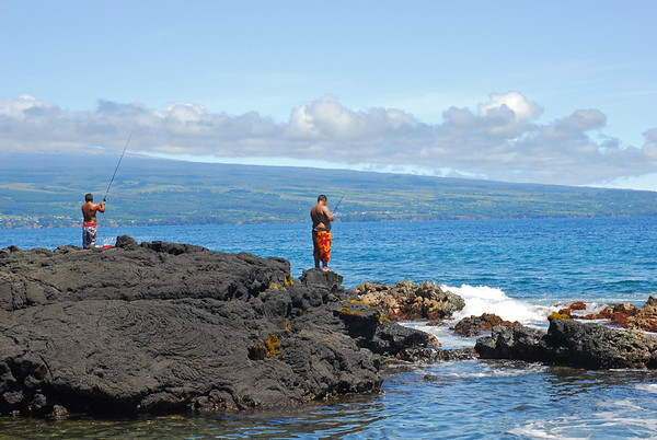 Locals fishing on East side