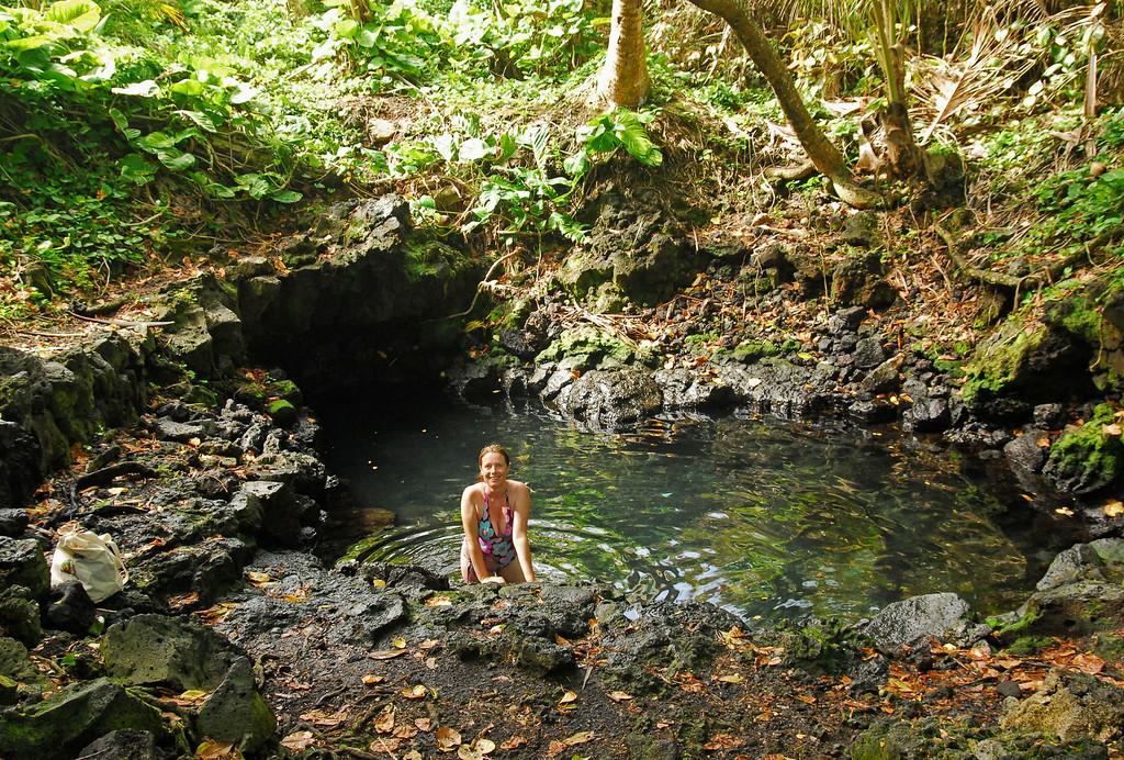 Sarah in a volcanically heated pool near Pahoa