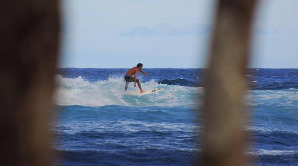 East coast Hawaii surfing
