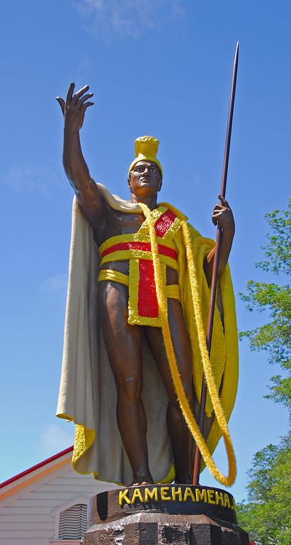 King Kamehameha statue in Hawi