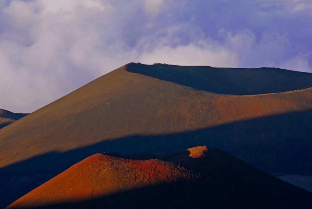 2 volcanic cinder cones at Mauna Kea