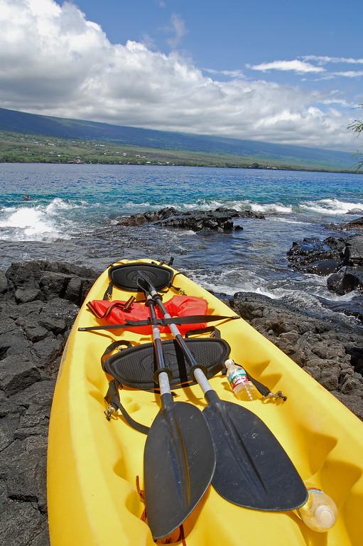 Kayaking at Captain Cook or Kealakekua Bay.