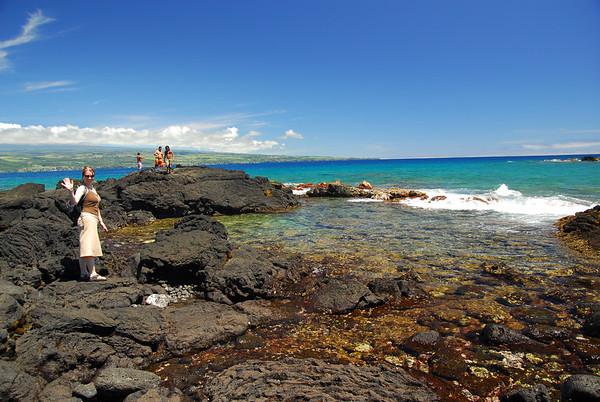 Our first spot of beach, SE Hawaii