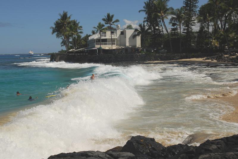 Big waves crashing in Kona