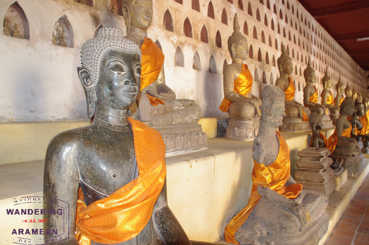 Hundreds and hundreds of Buddhas, in all manner of sizes. The robes are awesome on the statues.