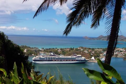 Dawn Princess in St. Lucia Harbor