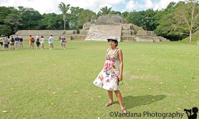 V at the Mayan Temples of Altun-Ha, Belize