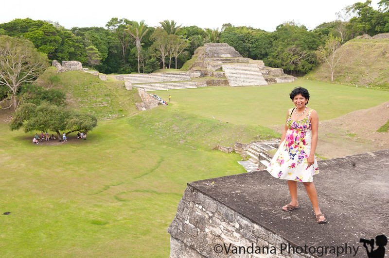 view from the top, Altun-Ha Mayan temples at Belize